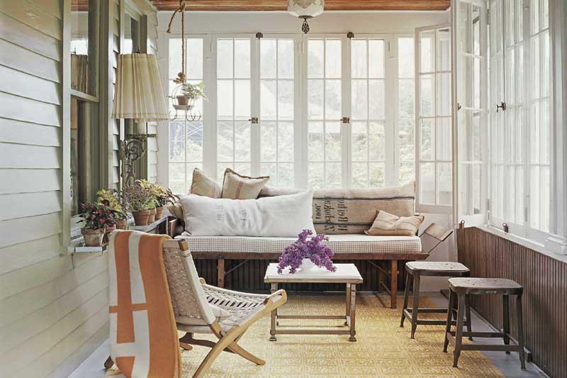 Деревянные окна для веранды