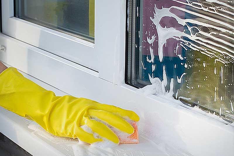 Чем отмыть цемент от окна