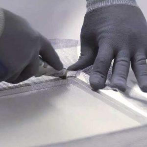 Москитная сетка на пластиковые окна своими руками