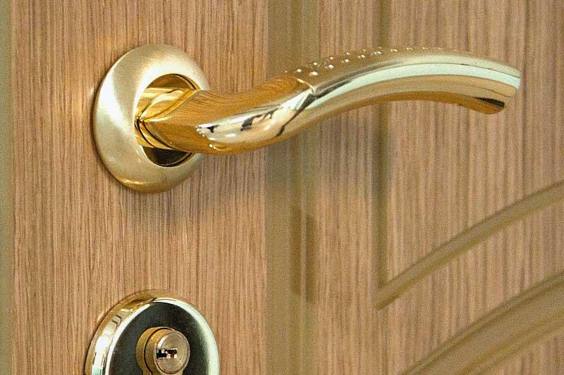 Входная дверь с отделкой шпоном