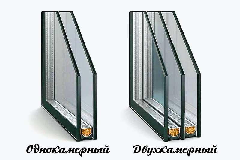 Однокамерный и двухкамерный стеклопакеты