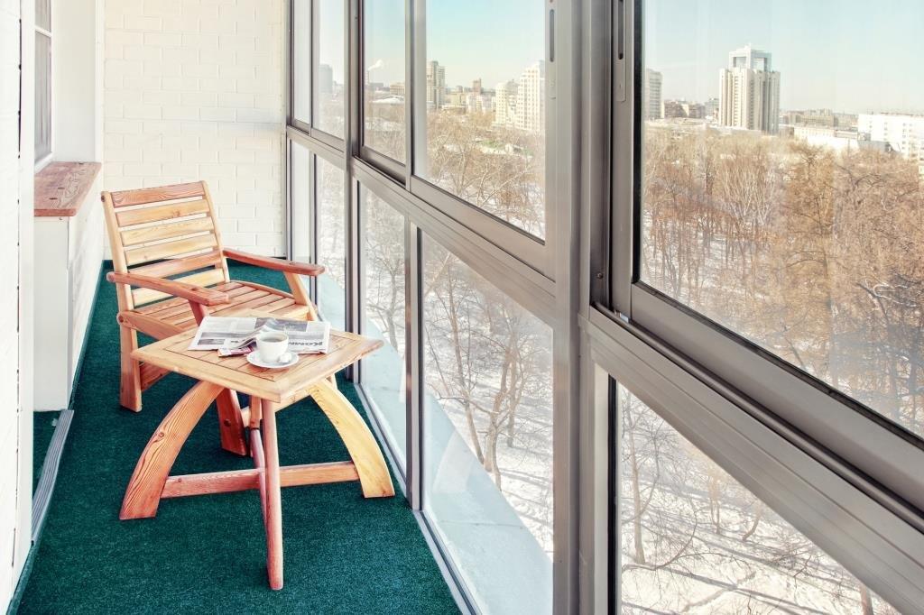 Панорамные окна из легкого алюминиевого профиля
