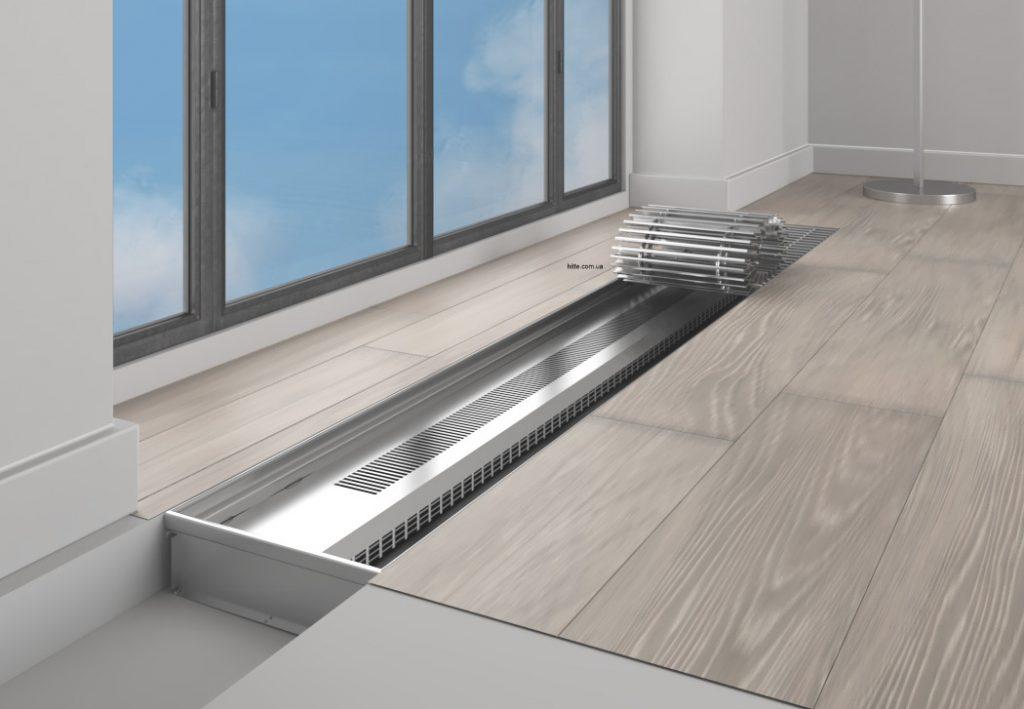 Устройство батареи отопления в полу