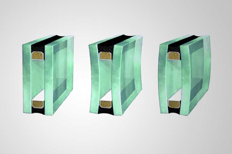 Изогнутый стеклопакет
