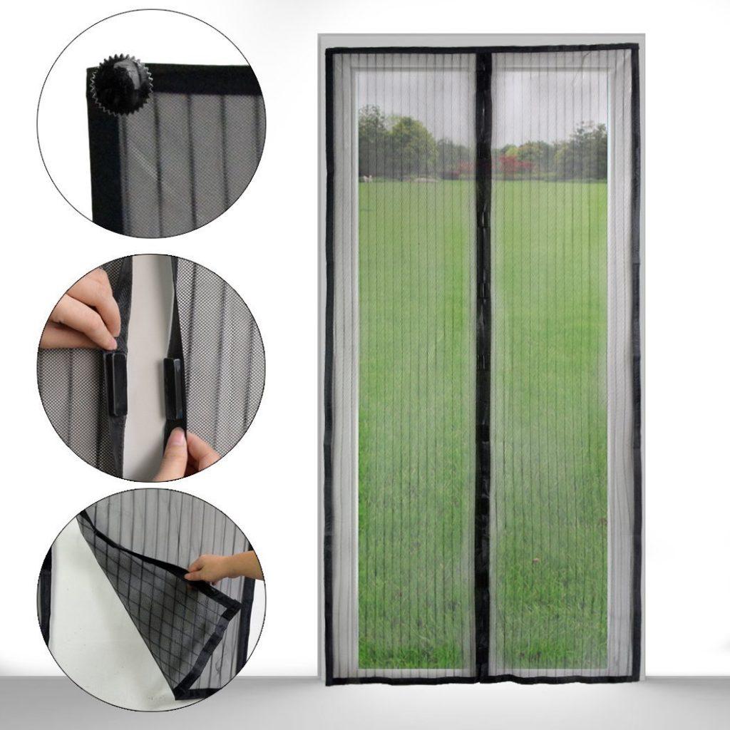 Принцип крепления и работы сетки на магнитах на дверь