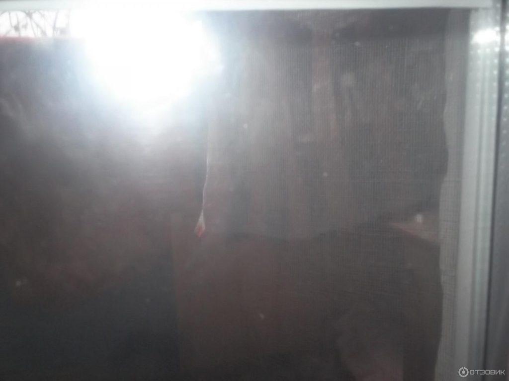 Пленка теплосберегающая после установки на окно