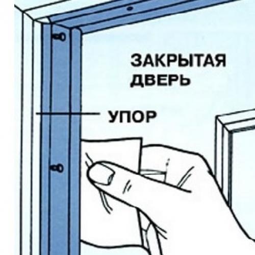 Как проверить правильность установленного уплотнителя на дверь