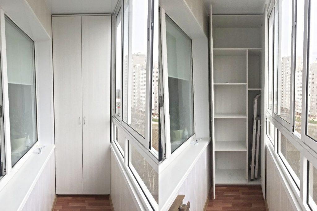 Шкаф на заказ на балкон