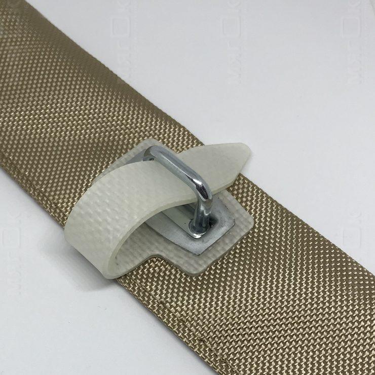 Крепление мягких ПВХ штор на силиконовый ремешок