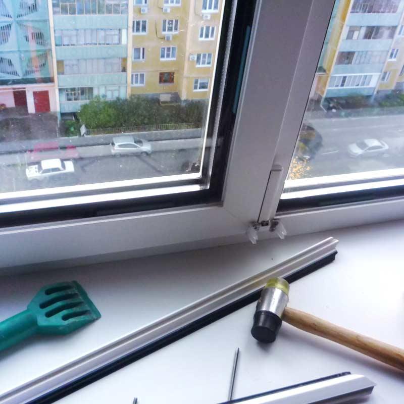 Ремонт алюминиевого окна своими руками - инструменты