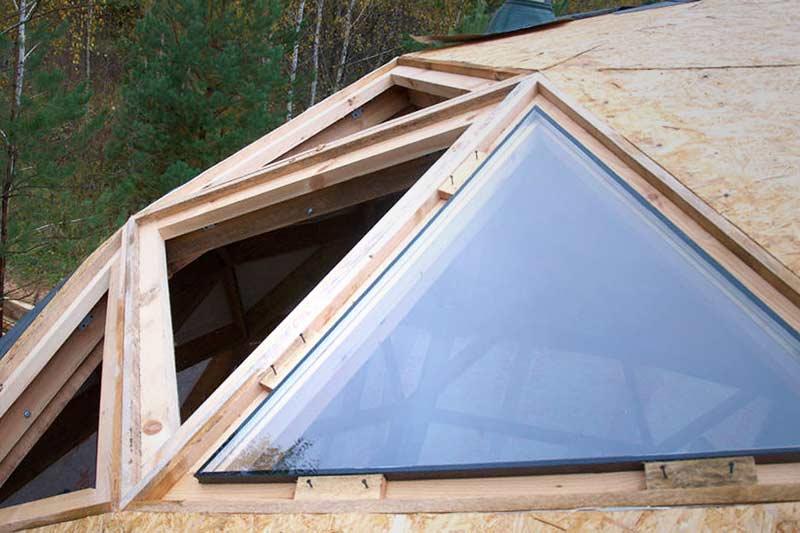 Стеклопакет треугольной формы