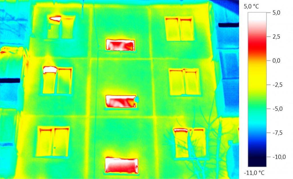 Тепловизионная карта здания
