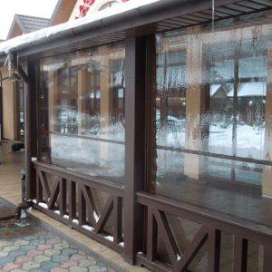 Окна для террасы из мягкого ПВХ