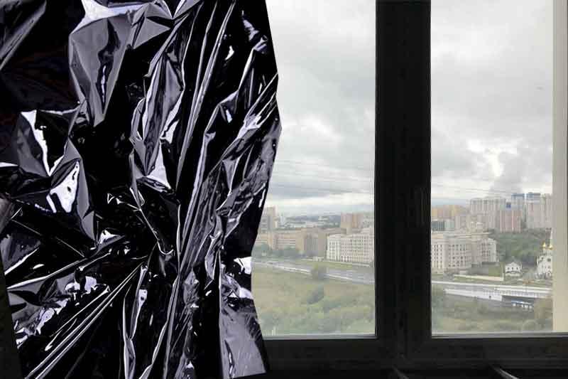 Черная пленка на окна для защиты от света и просмотра