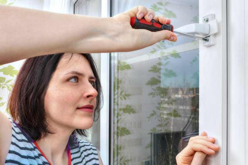 Ремонт пластиковых окон своими руками простым инструментом
