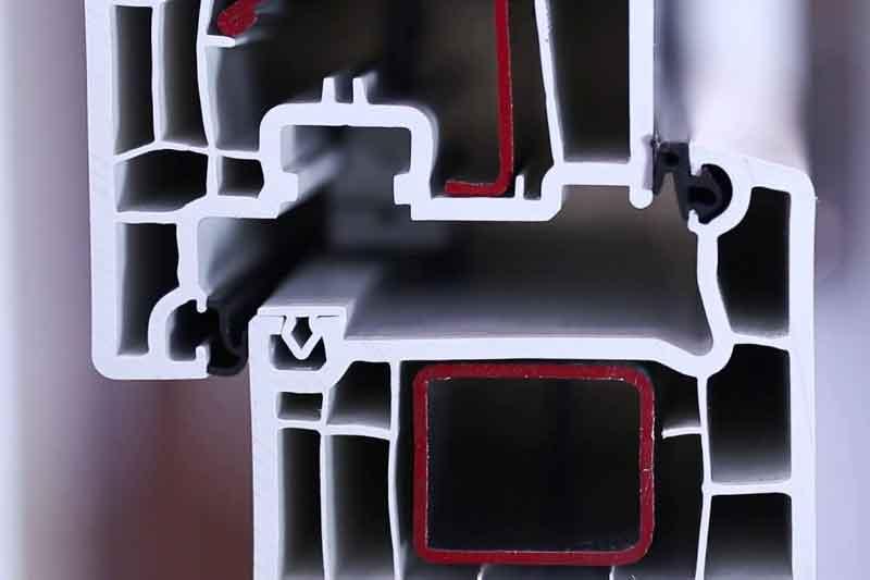 Профиль окна Veka с замкнутым армирование