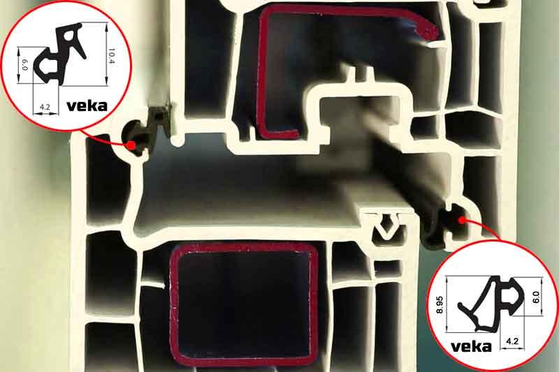 Замена резиновых уплотнителей на пластиковых окнах veka (века)